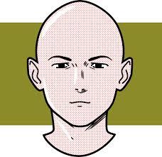 薄毛禿はげ頭イラスト さよなら毛根 可愛い無料イラスト素材集