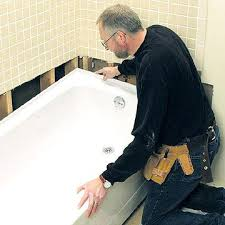 bathtub installation how to repair or replace a bath installing new tub drain on slab name views size installing a new tub