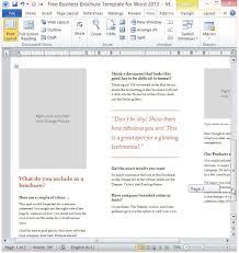 Microsoft Word Pamphlet Brochure Templates Microsoft Word 2013 Tadlifecare Com