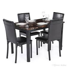 4 Person Kitchen Table 2017 Ikayaa Modern Kitchen Dining Room Table Chair Set For 4