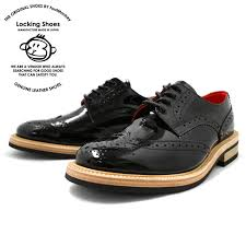 locking shoes wingtip shoes 918 black carving by footmonkey made in japan wingtip shoes patent leather