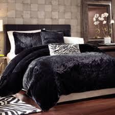 black panther faux fur duvet cover set bedroom