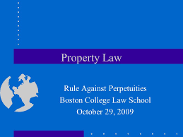 Property Law Rule Against Perpetuities Boston College Law