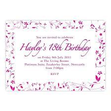 Licious 18th Birthday Invitations Extraordinary Tiny