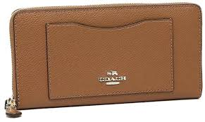 coach wallets accordion zip wallet in leather brown bags amazon real