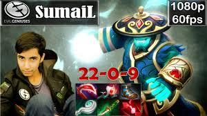 sumail eg storm spirit pro gameplay 20 0 mid mmr dota 2