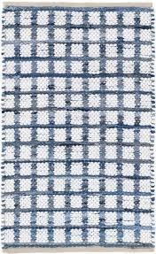 dash albert denim rag squares woven cotton rug