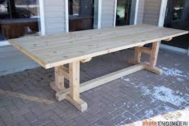 h leg dining table