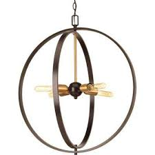 swing 4 light antique bronze foyer pendant