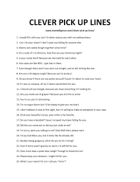 80 clever pick up lines use these to
