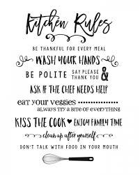 kitchen rules printable lil luna