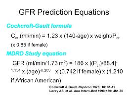 gfr prediction equations