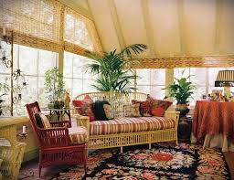 decorations traditional mix in s sunroom with palm tree and peace lily plants also rattan