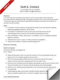 Electrical Engineering Resume Samples Electrical Engineering Resume Yomm