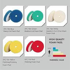 Spta 5pcs 6inch 150mm Buffing Pads Car Foam Polishing Pad Kit Mix Color Light Cut Set For Ro Da Car Polisher Dual Action Polisher