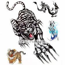 1 Pcs Dočasné Tetování Voděodolné Velká Velikost Papír Tetovací Nálepky Vzor Spodní část Zad Waterproof