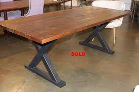 metal x frame dining table tables