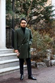 olive green db cashmere winter coat