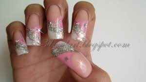 3D Nail Art: Pink & Silver New Year's Design 2012