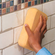 Grouting wall tile Ceramic Tile Wipe Hometips Grouting Finishing Wall Tiles