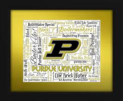 purdue university 16x20 art piece beautifully matted and framed behind gl