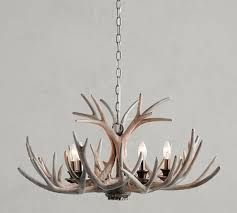 faux antler chandelier weathered gray saved view larger