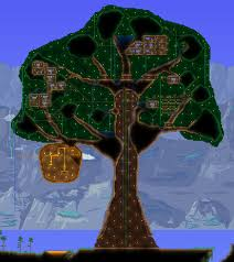 Images Giant Living Wood Treehouse Maps Projects Terraria