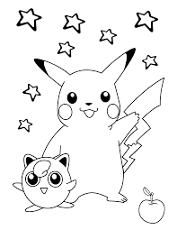 Small Picture Pokemon coloring pages pikachu and jigglypuff ColoringStar