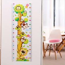 Children Kid Height Measurement Growth Chart Wall Sticker