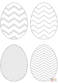 Small Picture Chevron Easter Eggs coloring page Free Printable Coloring Pages