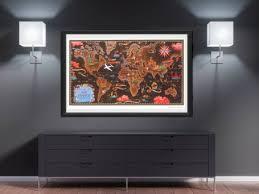 world map wall art 1948 air france