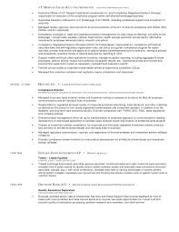 Compliance Resume Amazing Mullett Joel R Cv 48 Compliance And Risk Management Executive