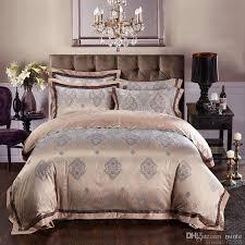whole silk bed linen satin jacquard gold red purple pink blue bedding set bedclothes bedspread queen king size sheet duvet cover sets bedding