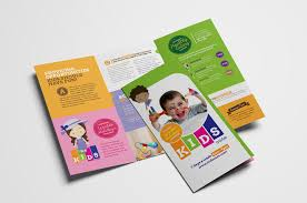 tri fold school brochure template after school care tri fold brochure template in psd ai vector