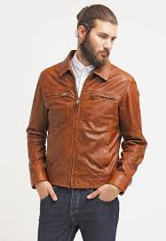 camel active leather jacket cognac men leather jackets
