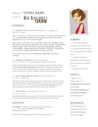 Resume Format For Graphic Designer Fresher Designer Resume