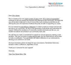 Samples Of Non Profit Fundraising Letters Sample Fundraising Letter