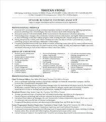 Business Analyst Resume Format Business System Analyst Resume Free