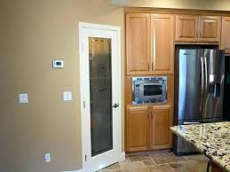 pantry door cost glass half frosted full size of