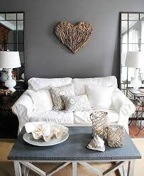 coastal living room with a gray color