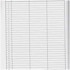 Blank Chart Template Blank Chart 3 Columns Corner Of Chart And Menu
