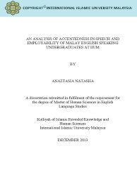 An Analysis Of Accentedness In Speech And Employability Of Malay