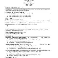 Sample Resume For Internship Of College Student New Sample Resume ...