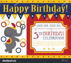 Download Birthday Invitation Card Design Kid Birthday Invitation Card Design Vector Stock Vector