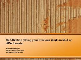 apa format work cited citing yourself citing your previous work in mla or apa format