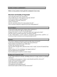 guide to essay assessment essays argument
