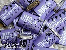 Chocolates Wrappers Amazon Com Mr And Mrs Mini Candy Bar Wrappers