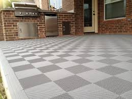perforated interlocking patio tiles