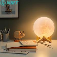 Creative Touch Design Ltd Dropship 3d Print Moon Lamp Rechargeable Led Night Light Creative Touch Switch Moon Light For Bedroom Home Decor Birthday Gift