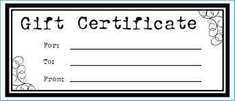 Blank Gift Certificate Templates 7462